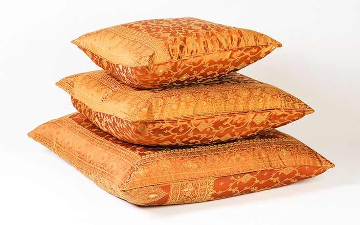 burnt orange | Burnt Orange Sari Pillow Covers,Cushions Covers Online.