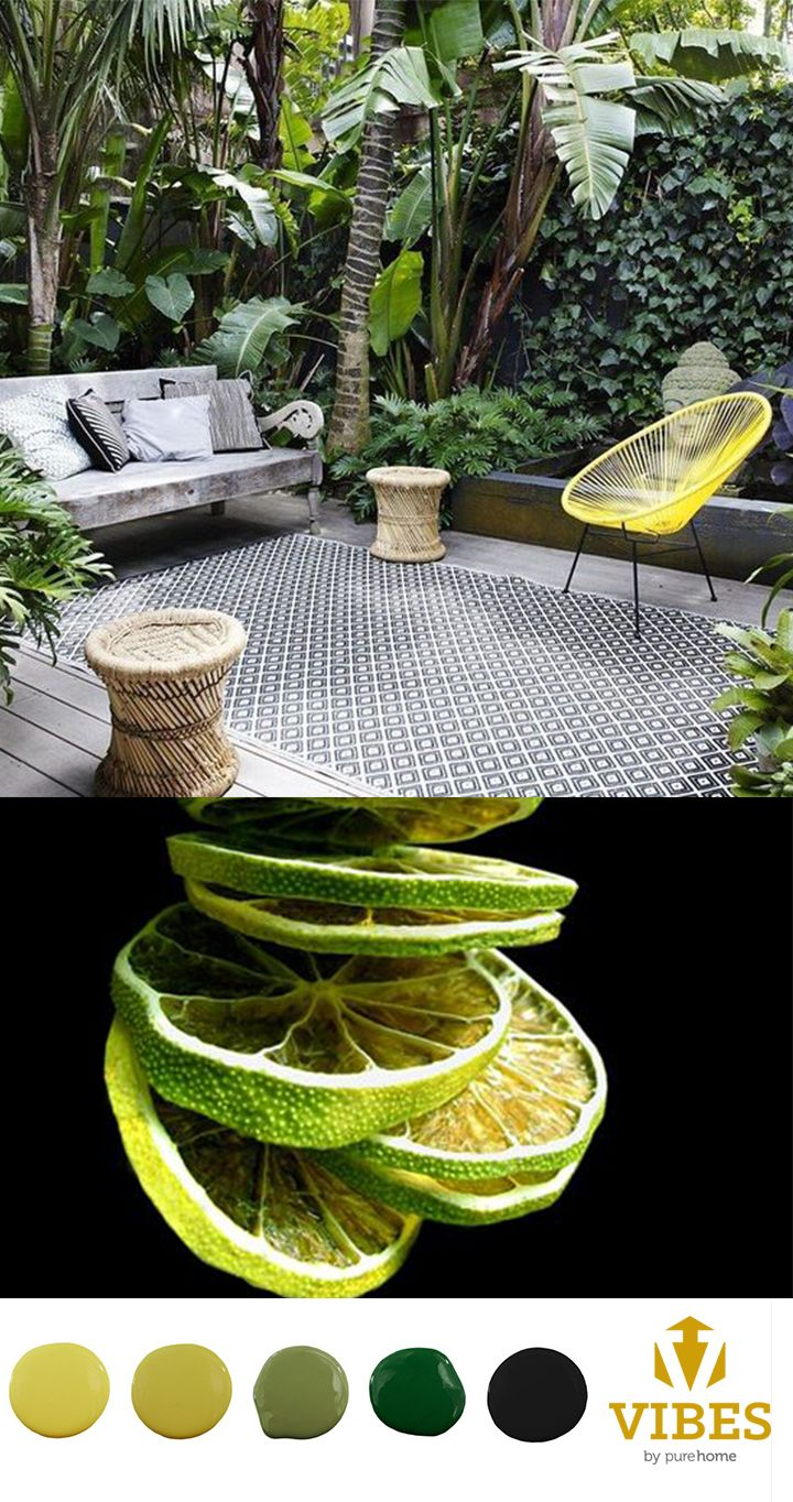 Relax, it's almost summer! Tropical patio inspiration with Innit Designs Acapulco Chair found on purehome.com