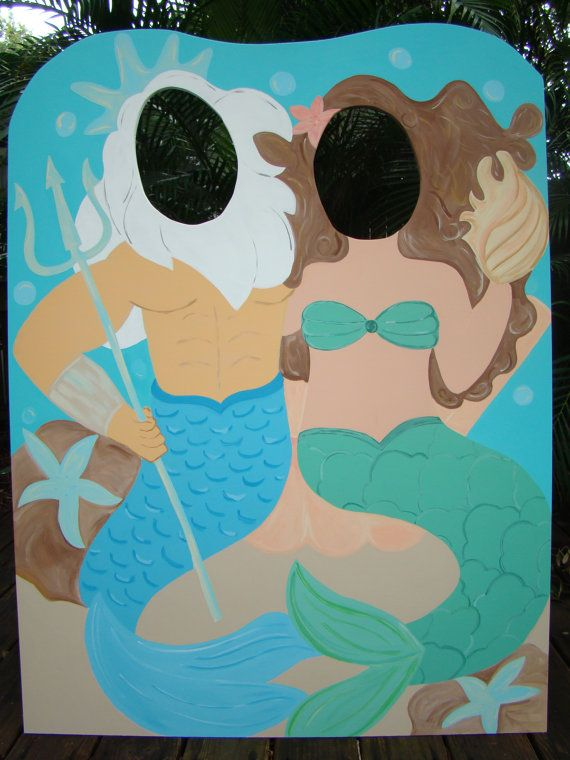 Mermaid and Triton Pirate Photo Prop & Event Decoration - Sea Life Listing on Etsy, $150.00