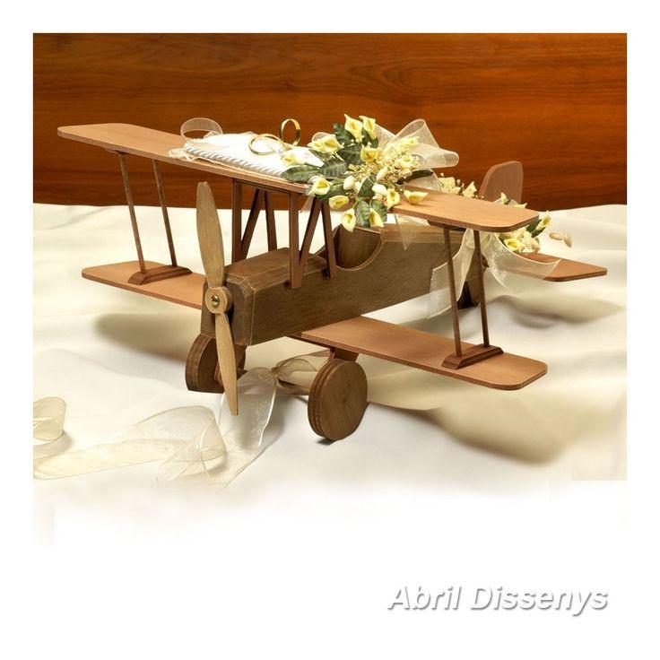 Avión de Marquetería para Anillos Calitas