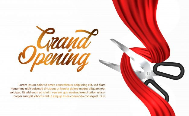 Red Silk Ribbon Grand Opening Ceremony In 2021 Shop Opening Invitation Card Grand Opening Silk Ribbon