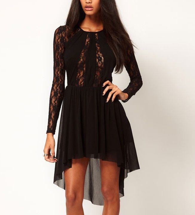 Fashion Long Sleeves Lace High Low Dress @ Dresses,Casual Dress,Casual Dresses,Lace Dress,Womens Dresses,Sweater Dress,Maxi Dresses,V Neck Dress,Long Sleeve Dresses,Cute Dresses,Ladies Dresses,Junior Dress,Teen Clothing,Party Dresses,Black,Red,White Dress,Cheap Womens Dresses on sale @ maykool.c