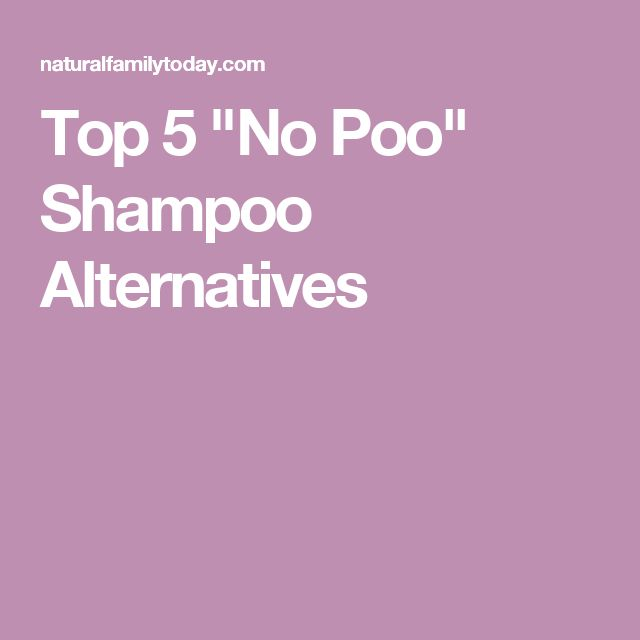 "Top 5 ""No Poo"" Shampoo Alternatives"