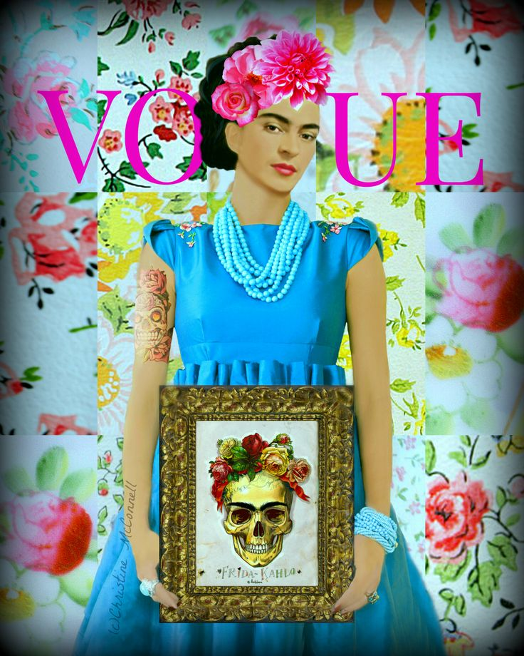 Frida Kahlo Vogue Cover art print available from www ...