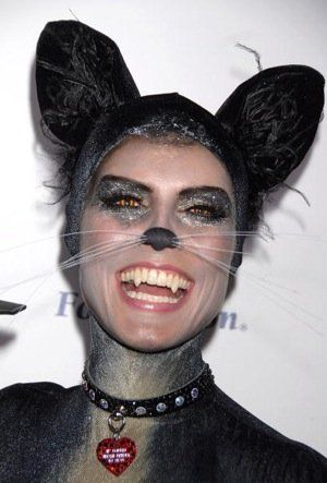 Model/designer/TV host Heidi Klum dressed in costume to host her 8th annual Halloween Party on October 31, 2007 at The Green Door in Los Angeles, California.