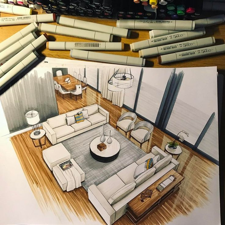 Drawings of Architecture and Interior Design. By Daniel Wikström.