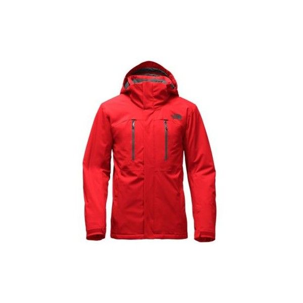 The North Face Men's Powdance Rain Jacket ($299) ❤ liked on Polyvore featuring men's fashion, men's clothing, men's outerwear, men's jackets, fiery red, mens lightweight waterproof jacket, the north face mens jackets, mens ski jackets, mens insulated ski jackets and mens waterproof jackets