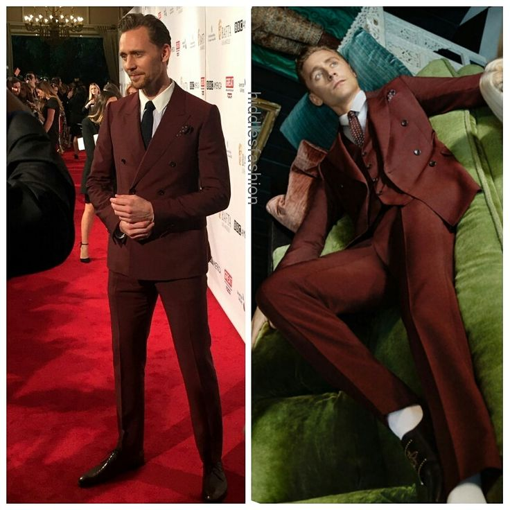 Tom Hiddleton at the BAFTA LA Tea Party (January 7, 2017) wearing the same Gucci suit he wore in the GucciTailoring ads. (Via hiddlesfashion)