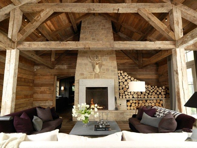 I am obsessed with exposed wood ceilings, and even love wood panel walls. Too bad its not an option in my 1970's tract house.