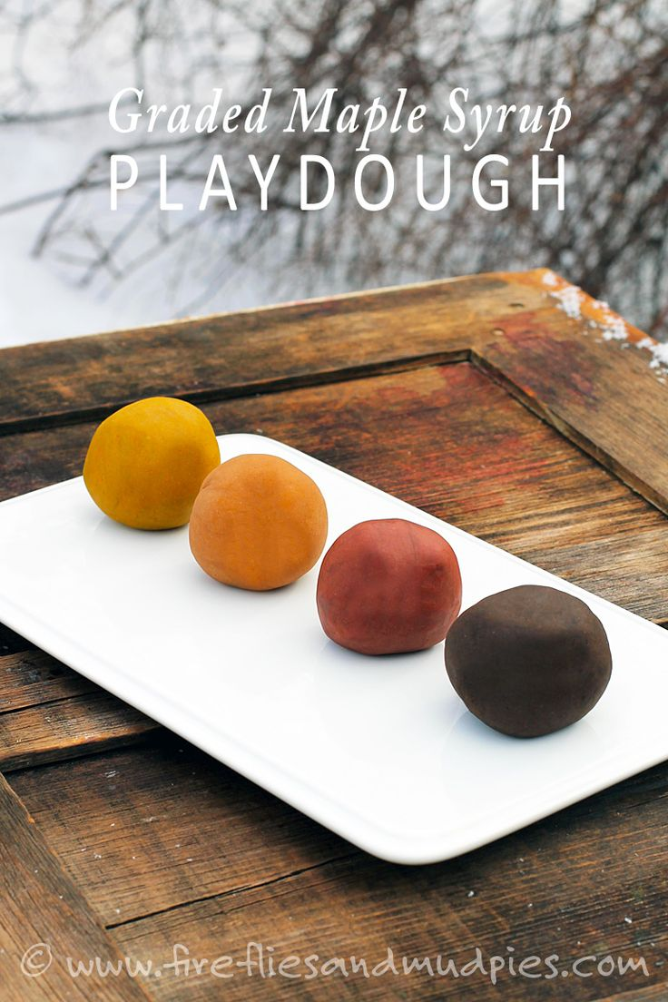 Celebrate sugarin' season with graded maple syrup playdough!