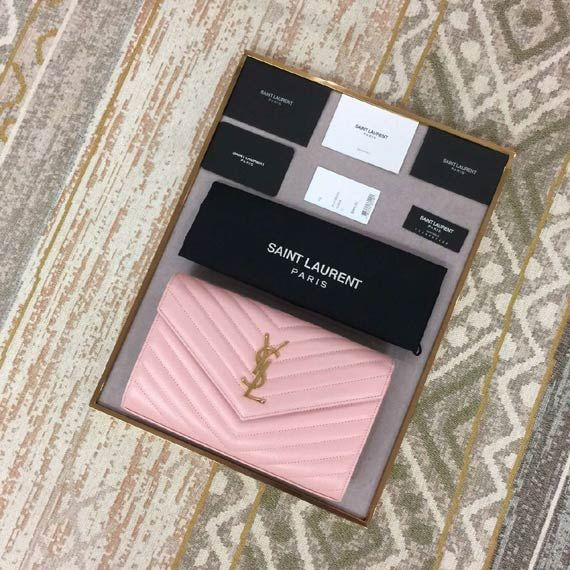 CLASSIC SAINT LAURENT FLAP FRONT WALLET Whatsapp:+8615817091613 for more pics and other payment options.