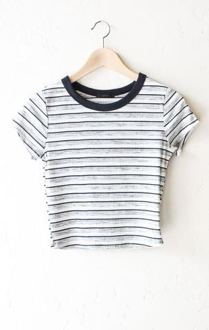 Striped Crop Top - Black/White