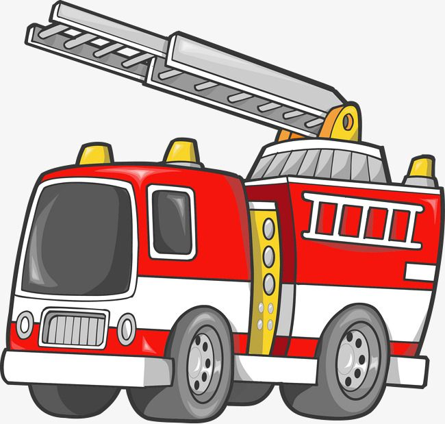 Vector Cartoon Fire Truck Cartoon Clipart Truck Clipart 119 Png