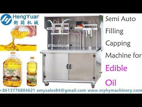 Semi auto measuring pump filling capping machine for edible oil