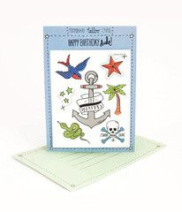 Tattoo Card for the Birthday Dude | Paper Products Online