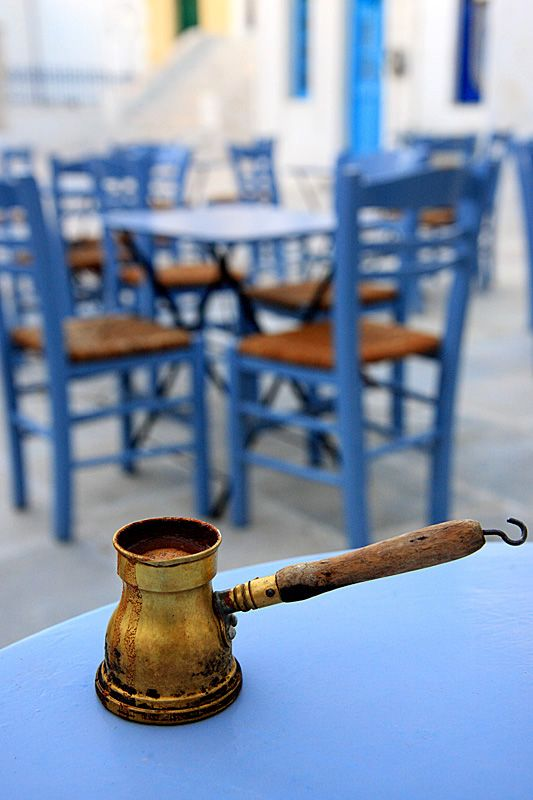 Greek traditional coffee served on Serifos island #kitsakis