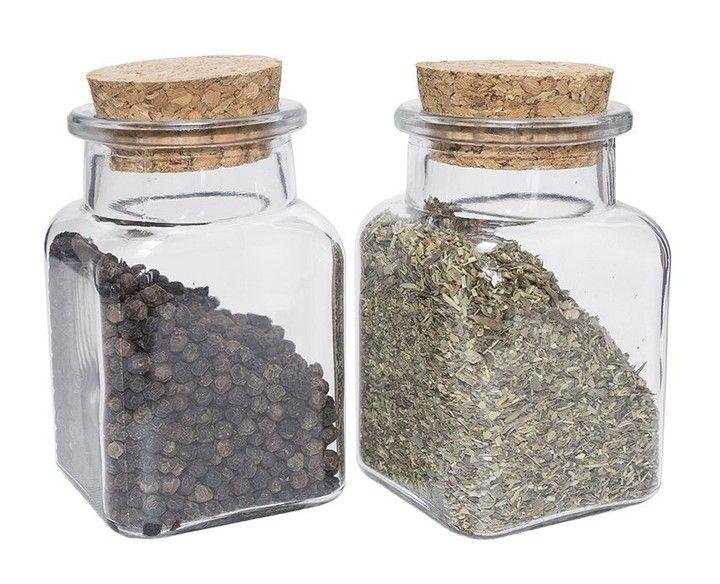 125ml Szklany Pojemnik Sloiczek Na Przyprawy Korek 6515271887 Oficjalne Archiwum Allegro Mason Jars Decorative Jars Jar