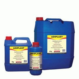 ADIPLAST: Polymer dispersion - Elastifying agent for waterproofing slurries (when added to AQUAMAT or cement mortars) or cementitious tile adhesives (when added to Isomat® AK 20, Isomat® AK 10 etc.). Replaces all or part of the mixing water. Necessary for applications on dimensionally unstable substrates, subject to vibration or contraction-expansion.