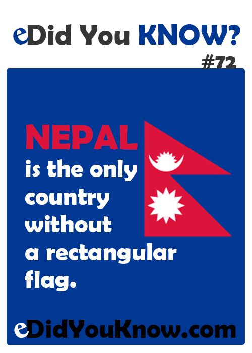 http://edidyouknow.com/did-you-know-72/ Nepal is the only country without a rectangular flag.