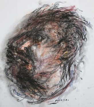 "Saatchi Online Artist Masri Hayssam; Drawing, ""Untitled portrait  #p66"" #art"
