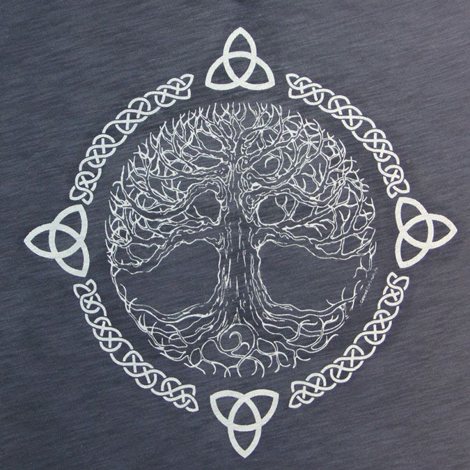 First of all, I should explain what this is. This is the Celtic Tree of Life. It symbolizes balance and harmony. I love the element of lines this design uses. The Celtic knots and branches in tree create a flow. Also, this design shows the element of time. It shows that over time, the tree has stayed the same, but has also been altered a bit .