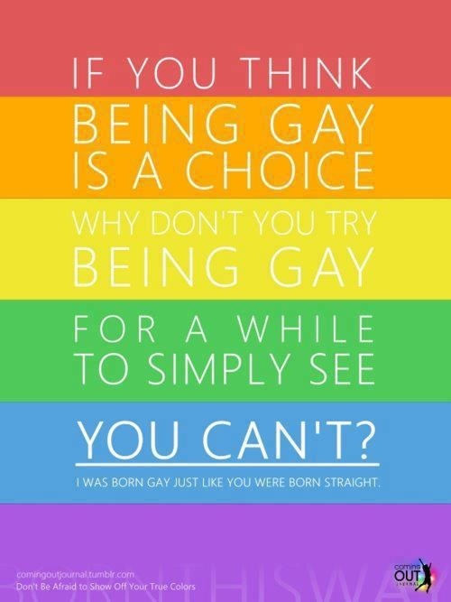 No, Being Gay Is Not a Choice
