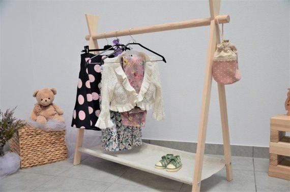 Kids Clothes Rack Wooden