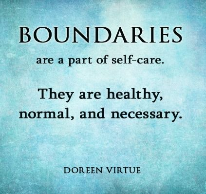 A boundary is your limit, which no one can overstep or violate. No matter who the other person is or how much you love him or her, your boundary is something that he or she is not allowed to breach.