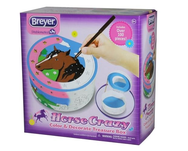 Breyer Horses Australia - Horse Crazy Colour & Decorate Treasure Box