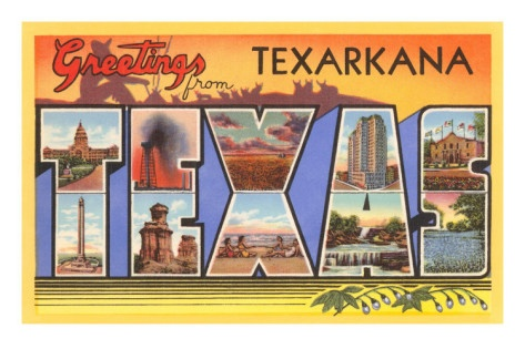 Greetings from Texarkana, Texas. This is making me SO happy.