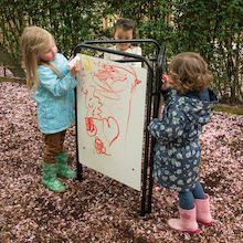 Packaway Toddler Easel Assorted Drawing Surfaces