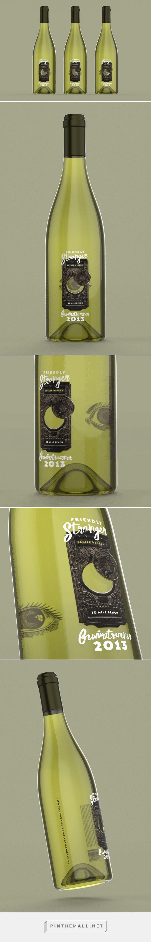 Friendly Stranger wine packaging design by Chargefield - http://www.packagingoftheworld.com/2017/12/friendly-stranger.html