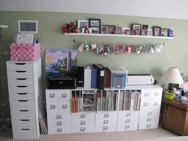 Most furniture and shelving is from IKEA, with paper storage and cubbies from Target/AC Moore      Craftaholics Anonymous®   Craft Room Tour with Diana Elliot