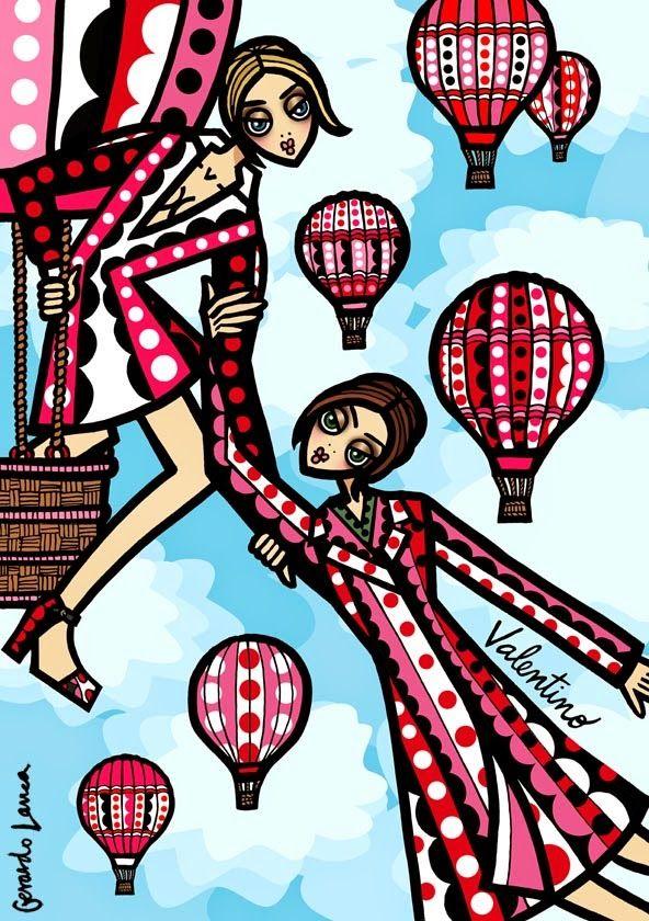 Illustration.Files: Valentino F/W 2014 Fashion Illustration by Gerardo Larrea