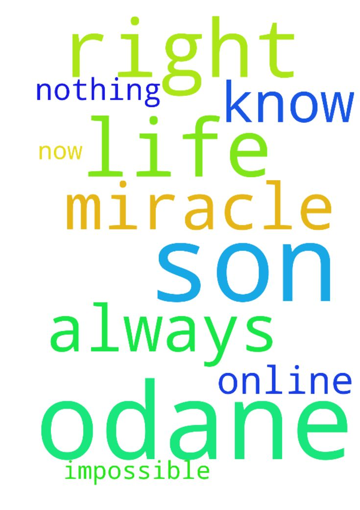 Need prayer for my son odane need a - Need prayer for my son odane need a miracle in his life right now know God is always online and nothing is impossible for him Posted at: https://prayerrequest.com/t/xfi #pray #prayer #request #prayerrequest