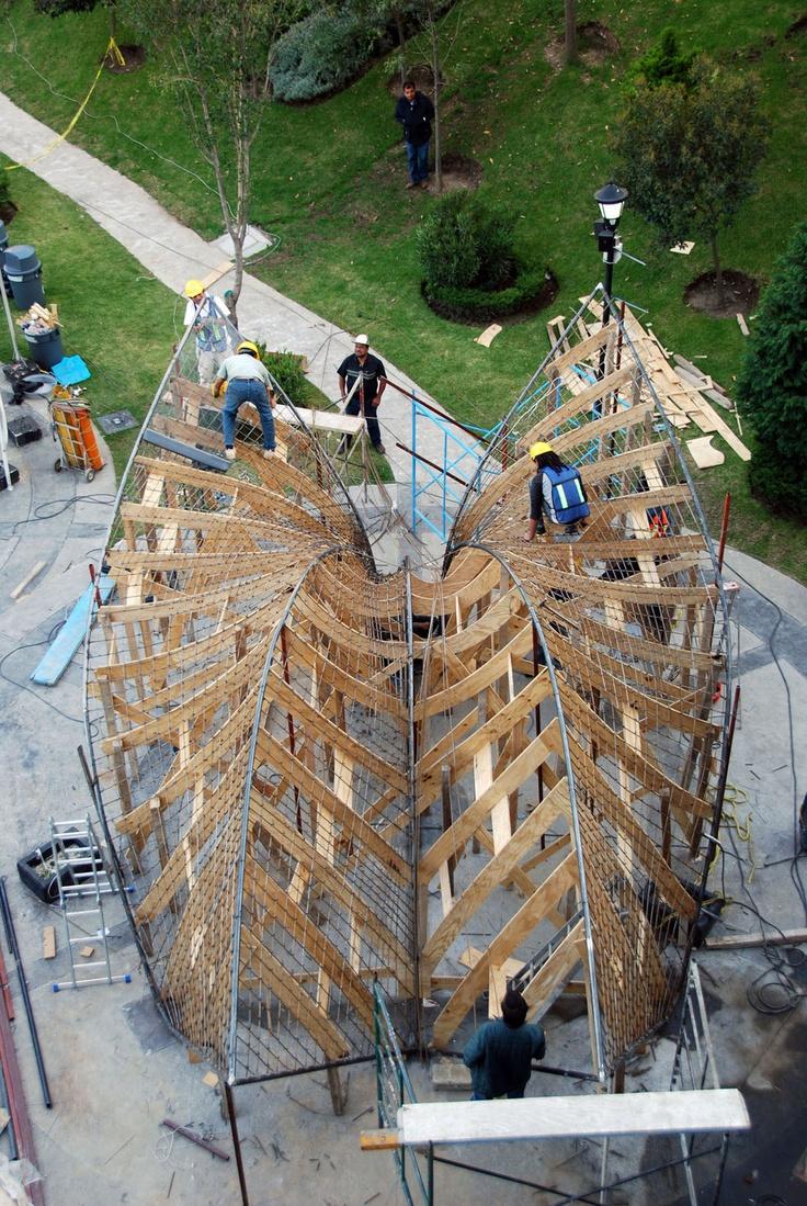 Zaha Hadid - Concrete Shell - Mexico City, Construction Image (Image: Zaha Hadid Architects)