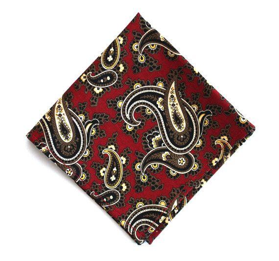 Mens Pocket Square mens handkerchief 10 x 10 Free by BoomBowTie