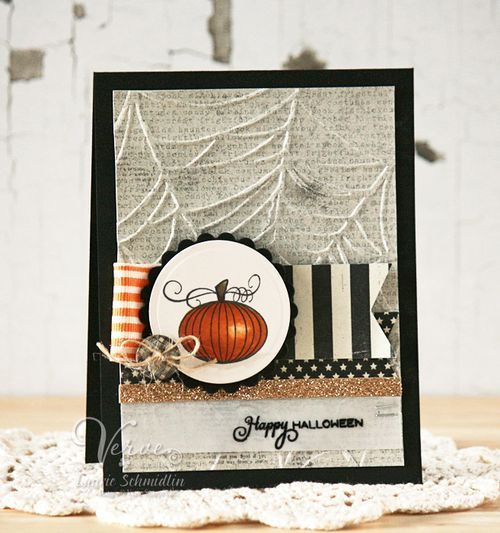 Halloween card by Laurie Schmidlin using using Boo to You from Verve.  #vervestamps