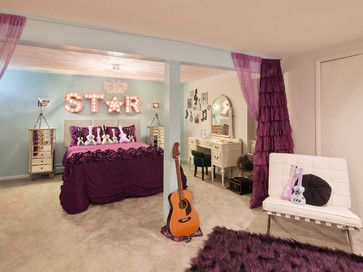 Rock Star Room This Tween Rock Star Room was custom designed for a girl who loves Taylor Swift, playing the guitar, and