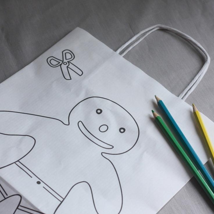 Sacs de transport blanc à colorier by My Sweet Boutique