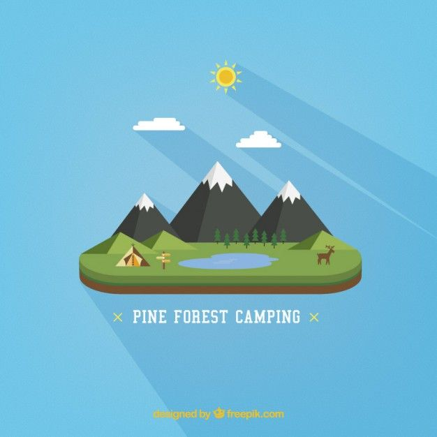 Free vector Forest camping #6253