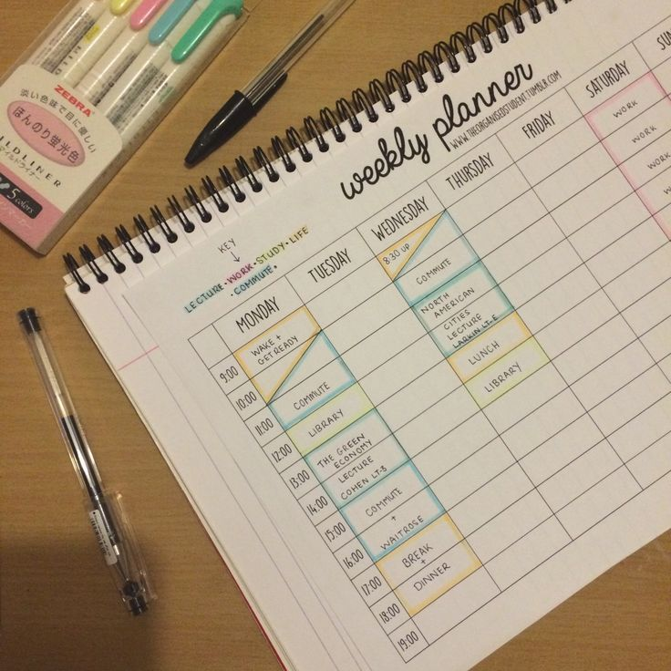 17 Best Ideas About Study Schedule On Pinterest College