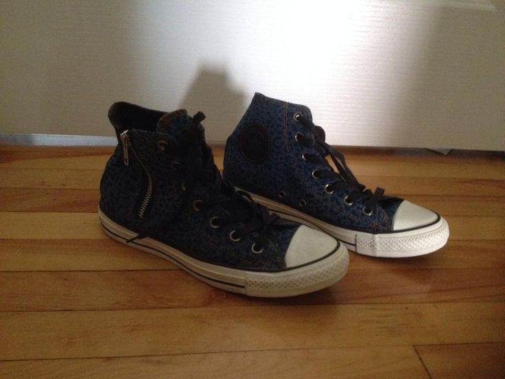 Converse. Size 6,  Leopard denim. Never worn. 20$ + shipping