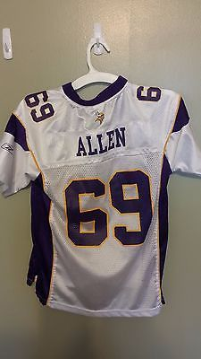 MINNESOTA VIKINGS JARED ALLEN FOOTBALL JERSEY SIZE MED YOUTH