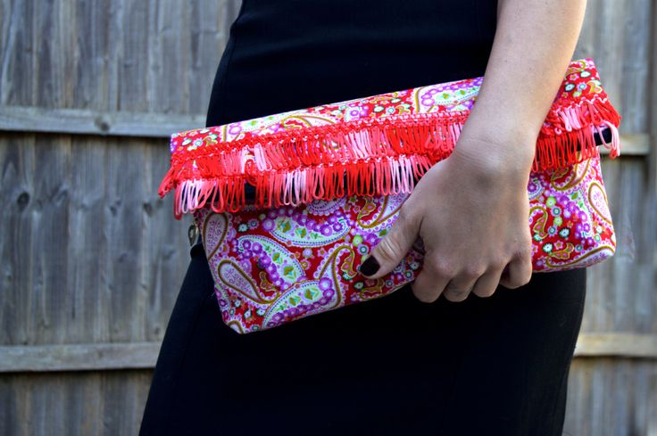 Fold Over Clutch Bag // Womens Handmade Handbags // Fabric Handbag // Red Clutch Purse // Bags and Purses // Boho Clutch // Uk seller - pinned by pin4etsy.com