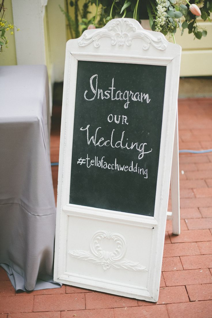 #instagram #sign  Photography by onelove-photo.com    Read more - http://www.stylemepretty.com/2013/08/30/larkspur-wedding-from-onelove-photography/