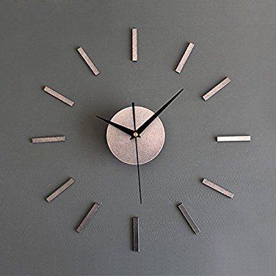 手作り DIY時計家居の現代 壁時計 ウォールクロック ウォールステッカー  時計を壁面に自由自在に設置できます 部屋装飾 模様替えに 簡単 (银)