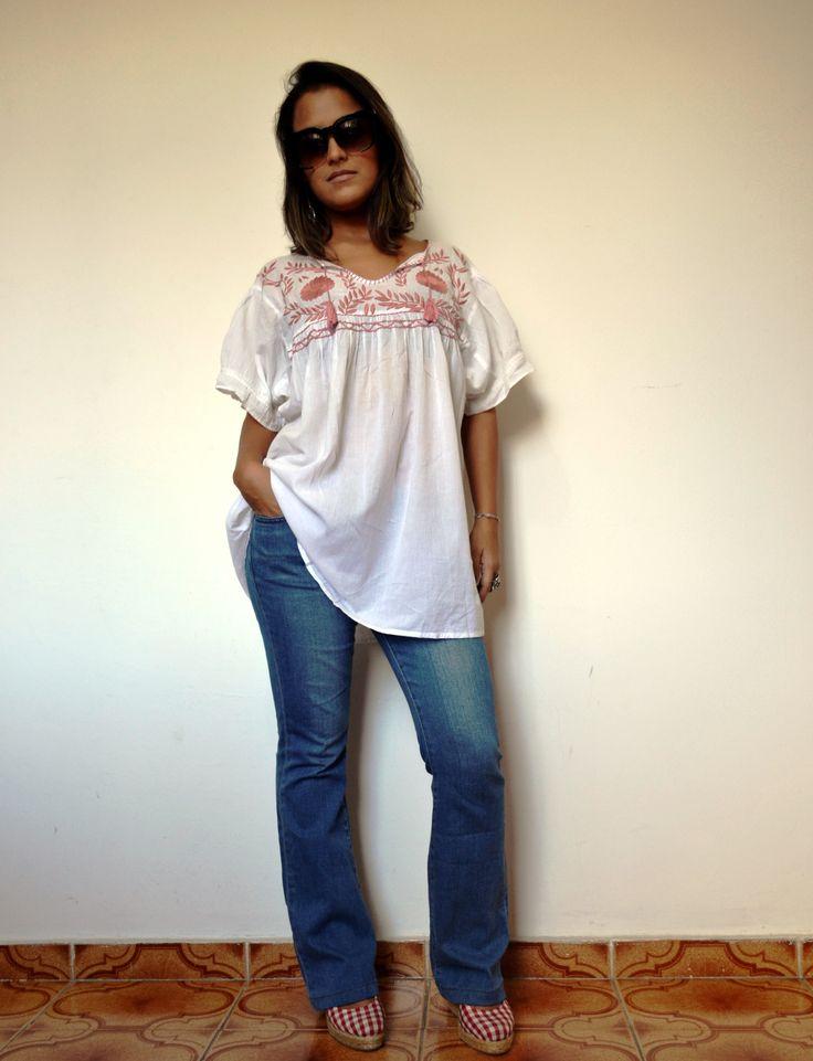 Bata Rapsodia e Calça Jeans