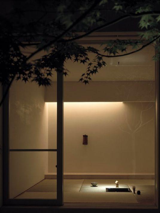 View from the patio towards the tatami room of the recently-constructed Tetsuka House in Tokyo.  Project architect: Shingo Ozawa. Photo: Hisao Suzuki.  Japan