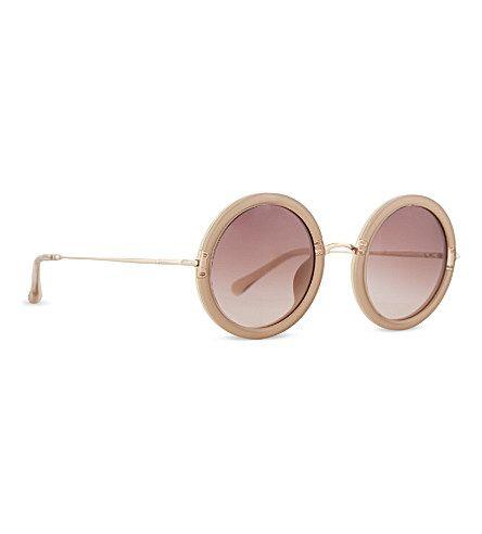 THE ROW ROW832 signature round sunglasses (Mink cream